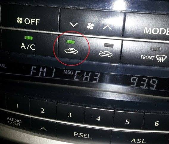 What is A/C recirculation button for?